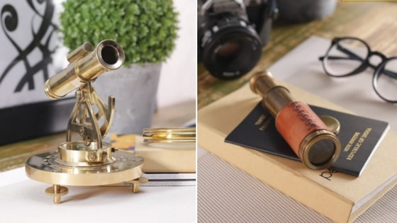 Antique Brass Telescopes